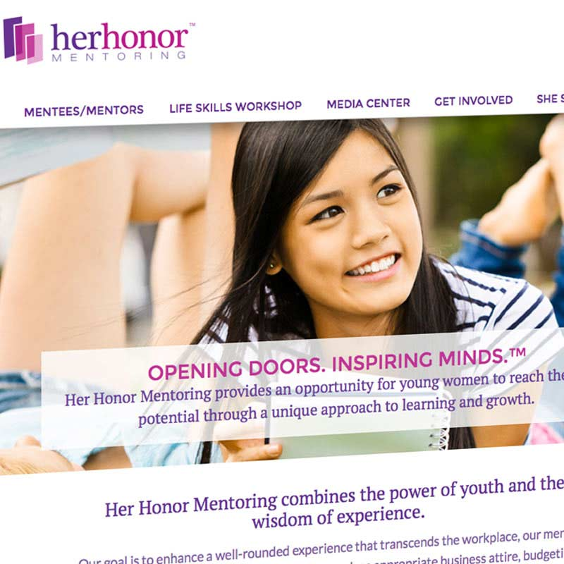 herHonor Mentoring Website