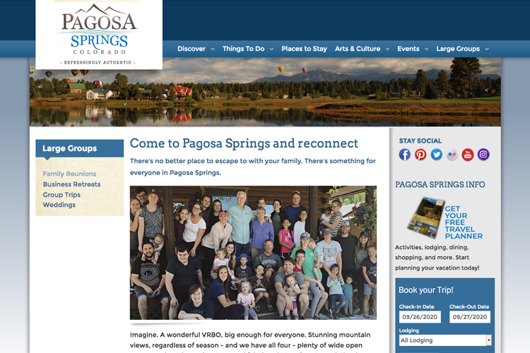 Pagosa Springs Website